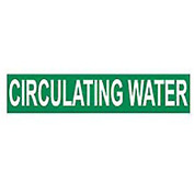 Pressure-Sensitive Pipe Marker - Circulating Water, Pack Of 25