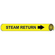 Precoiled and Strap-on Pipe Marker - Steam Return