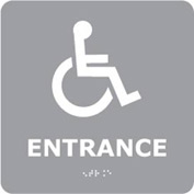 Graphic Braille Sign - Entrance - Gray