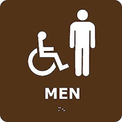 Graphic Braille Sign - Men - Brown