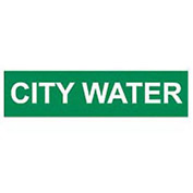 Pressure-Sensitive Pipe Marker - City Water, Pack Of 25