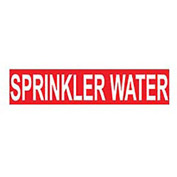 Pressure-Sensitive Pipe Marker - Sprinkler Water, Pack Of 25