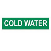Pressure-Sensitive Pipe Marker - Cold Water, Pack Of 25