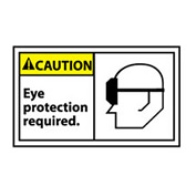 Graphic Machine Labels - Caution Eye Protection Required