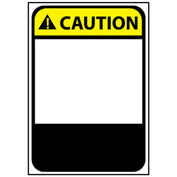 Graphic Machine Labels - Caution Blank with Header Only
