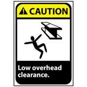 Caution Sign 14x10 Vinyl - Low Overhead Clearance