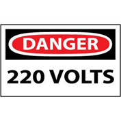 Machine Labels - Danger 220 Volts