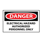 Machine Labels - Danger Electrical Hazard
