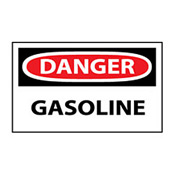 Machine Labels - Danger Gasoline