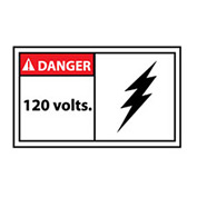 Graphic Machine Labels - Danger 120 Volts