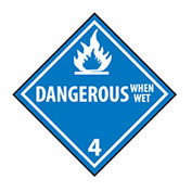 DOT Placard - Dangerous When Wet