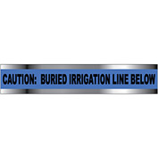 "Detectable Underground Warning Tape - Caution Buried Irrigation Line Below - 2""W"