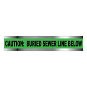 "Detectable Underground Warning Tape - Caution Buried Sewer Line Below - 3""W"