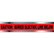 "Detectable Underground Warning Tape - Caution Buried Electric Line Below - 3""W"