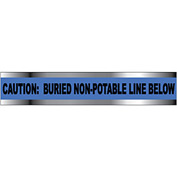 "Detectable Underground Warning Tape - Caution Buried Non-Potable Line - 6""W"