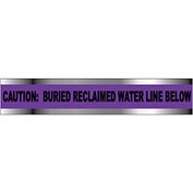 "Detectable Underground Warning Tape - Caution Buried Reclaimed Water Line - 6""W"