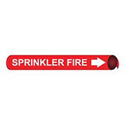 Precoiled and Strap-on Pipe Marker - Sprinkler Fire