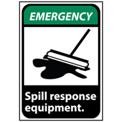 Emergency Sign 14x10 Rigid Plastic - Spill Response Equipment
