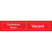 Engraved Occupancy Sign - Conference Room In Use Vacant - Black
