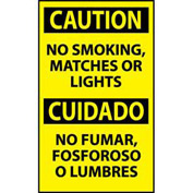 Bilingual Machine Labels - Caution No Smoking, Matches Or Lights