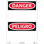 Bilingual Plastic Sign - Danger Blank