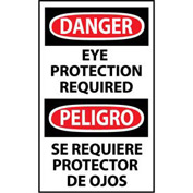 Bilingual Machine Labels - Danger Eye Protection Required