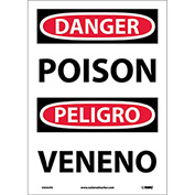Bilingual Vinyl Sign - Danger Poison
