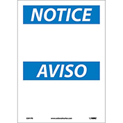 Bilingual Vinyl Sign - Notice Blank