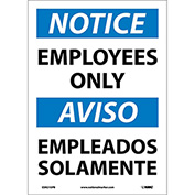 Bilingual Vinyl Sign - Notice Employees Only