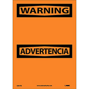 Bilingual Vinyl Sign - Warning Blank