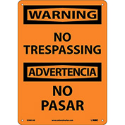 Bilingual Aluminum Sign - Warning No Trespassing