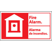 Bilingual Fire Sign - Fire Alarm Alarma De Incendios - Vinyl