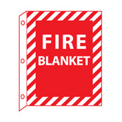 Fire Flange Sign - Fire Blanket