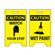 Floor Sign - Caution Watch Your Step Wet Paint
