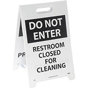 Floor Sign - Do Not Enter Restroom Closed For Cleaning