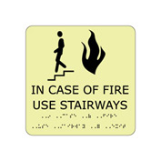 Glow Braille - In Case Of Fire Use Stairway
