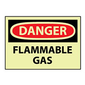 Glow Danger Vinyl - Flammable Gas