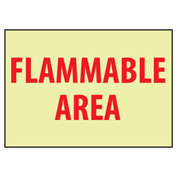 Glow Sign Vinyl - Flammable Area