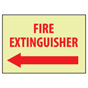 Glow Sign Rigid Plastic - Fire Extinguisher Left Arrow