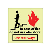Glow Sign Rigid Plastic - Do Not Use Elevators