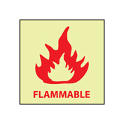 Glow Sign Rigid Plastic - Flammable