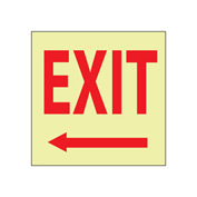 Glow Sign Rigid Plastic - Exit