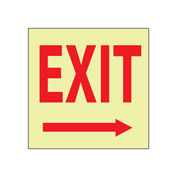 Glow Sign Rigid Plastic - Exit(Right Arrow)