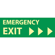 Glow Sign Rigid Plastic - Emergency Exit(Right Arrow)