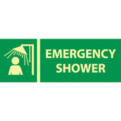 Glow Sign Rigid Plastic - Emergency Shower
