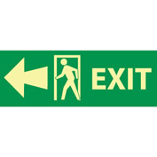 Glow Sign Rigid Plastic - Exit(w/ Door And Left Arrow)