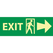 Glow Sign Vinyl - Exit(w/ Door And Right Arrow)