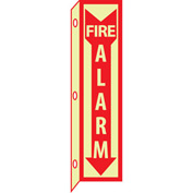 3D Glow Sign Plastic - 18X4 Fire Alarm