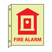 3D Glow Sign Plastic - 10X8 Fire Alarm