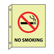 3D Glow Sign Plastic - No Smoking